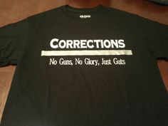 Correctional Officer Shirt - Corrections - No Guns - No Glory - Just Guts - Thin Silver Line - Corrections Support T Shirt by GeoDreams on Etsy Fire Department, Law Enforcement, Cricut Ideas, Shirt Ideas, Fundraising, Police, My Etsy Shop
