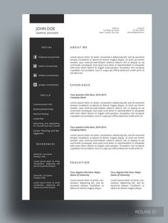 OZER RESUME  This resume template is professionally designed for those who like simple, organized and clean template. This is fully editable according to your preferences. Stay awesome!
