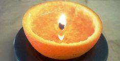 DIY Organe Candle