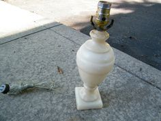 Alabaster Table Lamp by assemblage333 on Etsy, $65.00