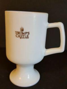 Vintage Trump's Castle Hotel & Casino Pedestal Coffee Mug Oversized Coffee Mugs, Coffee Mugs Vintage, Best Coffee Mugs, Coffee Type, Tea Mugs, Vintage Ashtray, Vintage Pyrex, Mirage Hotel, Sands Hotel