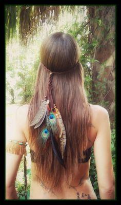 Kuyani feather headband boho  gypsy coachella by dieselboutique