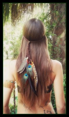 Kuyani feather headband boho  gypsy coachella by dieselboutique