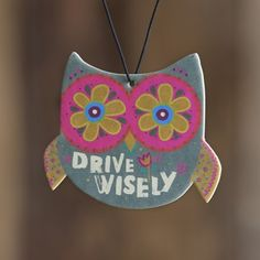 """Owl """"Drive Wisely"""" Auto Air Freshener"""