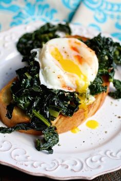 Sautéed Kale on Toast with Poached Eggs is one of my favorite breakfast dishes. It offers a lot of flexibility (prep the eggs how you prefer them, use roasted asparagus instead of sautéed kale — you get the idea) and a ton of flavor. Heck, this is even a great option for dinner!