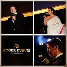 Roger Dubuis welcomed Kajol and Gerard Butler on stage, presenting a medley of their most famous movies.