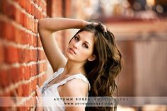 senior pictures, on a brick wall are ... TO DIE FOR 3 life itselff 3
