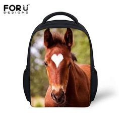 1e04fc3e5e Beautiful Small Top Quality 3D Animal Print Crazy Horse Backpack 18 Styles