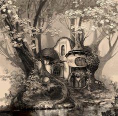 """Lisa Keene Concept Art """"Enchanted"""""""