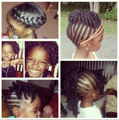 Natural hair styles for little girls