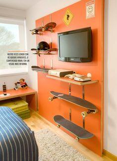 Skateboards used as shelves!