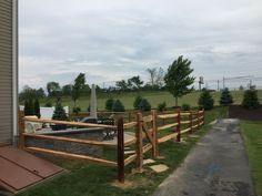 A busy week here at Tri-Boro Fence...3-rail hemlock split rail fence installed by Ryan & his crew in Northampton from #triborofence #woodfence Split Rail Fence, Fence Styles, Boro, Deck, Outdoor Decor, Home Decor, Decoration Home, Room Decor, Pallet Fence