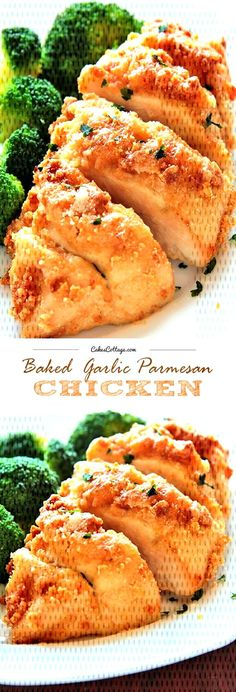 Baked Garlic Parmesan Chicken - CakescottageYou can find Italian baked chicken and more on our website. Baked Garlic Parmesan Chicken, Italian Baked Chicken, Reuben Sandwich, Chicken Salad Recipes, Recipe Chicken, Chicken Quesadillas, Salmon Burgers, Easy Meals, Healthy Recipes