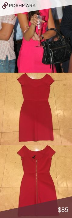 Hot pink BCBG dress 💕 SALE In great condition - very sexy body con stretch dress. Great for summer parties! Bold color makes this dress a showstopper. BCBG Dresses