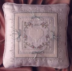 cross stitch wedding ring pillows Photos of Cross Stitch Wedding