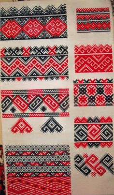 A sampler of Eastern Podillia embroideries. Ukrainian Museum of Stamford