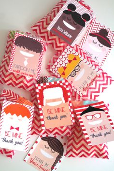 Cool Kids printable Valentine's Day card - so nice to see some diverse faces in the group.