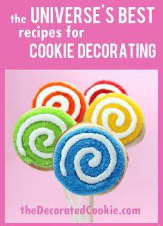The best cookie decorating recipes! Cut-out sugar cookies, royal icing. - BEST cookie decorating recipes, including cut-out sugar cookies, royal icing (sugar cookie icing), - Rolled Sugar Cookie Recipe, Sugar Cookie Icing, Best Sugar Cookies, Iced Cookies, Sugar Cookies Recipe, Royal Icing Cookies, Cookies Vegan, Owl Cookies, Frosting Recipes