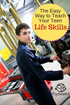The Easy Way to Teach Your Teen Life Skills like auto repair and home maintenance. This is the perfect program for homeschoolers and parents who would like their kids to be more responsible.