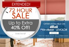 72 Hour Sale! Up to 40% off.