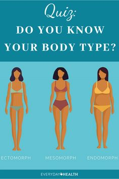 Learn which body type you have and how that can affect your weight loss goals.