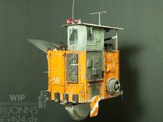 1:35 Abfall-Hovertruck WIP, fast fertig – Modellbau & Dioramen