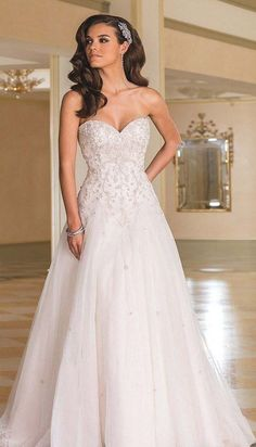 strapless sweetheart aline wedding dress