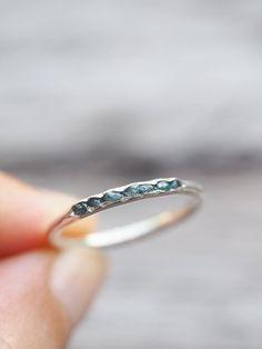 Raw blue diamond ring // Hidden Gems