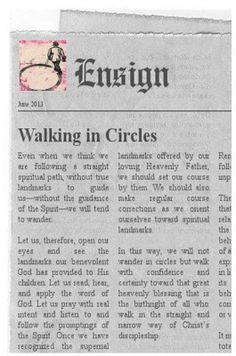 Didi @ Relief Society: Walking in Circles - First Presidency June 2013 Message, handout