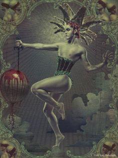 Jester, harlequin, circus, dark,illustration,art