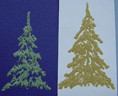 From My Craft Room: Tutorial - Snow-covered fir/pine trees