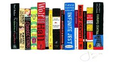 'Ideal Bookshelf' Custom Paintings - Pick your favourite book titles and have their spines turned into art.