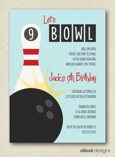 Bowling birthday party invitation its my party ill party if i tips easy to create bowling party invitations filmwisefo