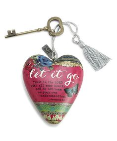 This 'Let It Go' Art Heart Decoration is perfect! #zulilyfinds