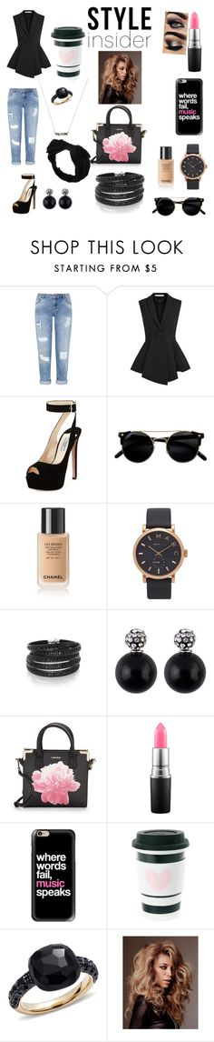 """Untitled #25"" by zuhatsh ❤ liked on Polyvore featuring Miss Selfridge, Givenchy, Prada, Marc Jacobs, Sif Jakobs Jewellery, Calvin Klein, MAC Cosmetics, Casetify, Pomellato and Johnny Loves Rosie"
