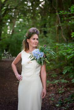 Phoenix Styled Shoot | alternative bridal bouquet | Oversized Corsage | Fiona Watson Photography | Jewellery: MONA MARA, Dress: Flossy & Dossy, Flowers: First Blush, Make Up & Hair: LeeAnne Fraser, Model: Laura Anne Mullan