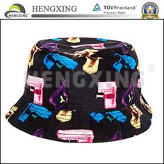 Custom Pattern Full Floral Printed Bucket Hat Hawaii Bucket Hat/Fashion Custom Print Bucket Hat with Short Brim $1.29~$3.251