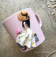Polymer Clay Crafts, Diy Clay, Polymer Clay Jewelry, Cute Mug, Coffee Heart, Coffee Cup, Clay Cup, Clay Projects, Clay Creations