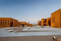 Image 8 of 18 from gallery of Laayoune Technology School / Saad El Kabbaj + Driss Kettani + Mohamed Amine Siana. Photograph by Doublespace Photography Bude, Morocco Destinations, University Center, Best Architects, Building For Kids, Urban Furniture, School Pictures, Contemporary Architecture, School Design