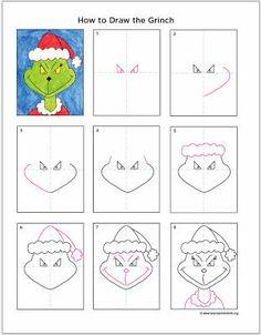 Art Projects for Kids : apprendre à dessiner le Grinch 557