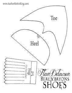 Fleur Delacour Beauxbatons Costume pattern free Shoes