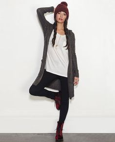 Hooded Duster Cardi