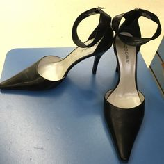 BCBGirls Ankle Heels Amazing heels , gently used , but no peelings , scratches or any damage to report BCBGirls Shoes Heels