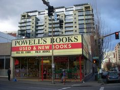 Powell's Books  The famous Powell's Books - an independent used and new bookshop that takes up an entire city block in downtown Portland, Oregon.