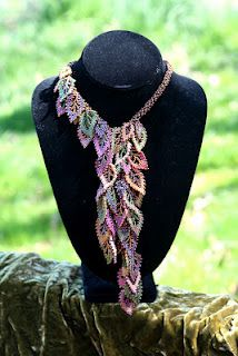 Falling Leaves beaded necklace - I don't think my attention span would allow it but it is pretty.