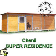 CHENIL en bois SUPER ELEVEUR Résidence pour chien & chat