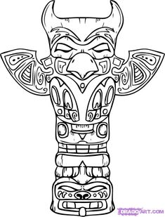 thunder bird  symbols and meanings and totem poles on