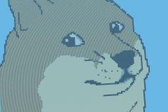 Dog Meme Art in #Minecraft via Reddit user  evrengoldfish