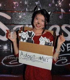 "Clever Last-Minute Costume Idea: ""Please Adopt Me"" Costume!… Coolest Halloween Costume Contest"