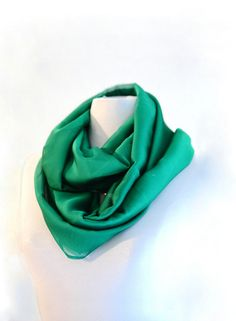 Green organza softness infinity scarf and shawl trend by stylesay, $35.00